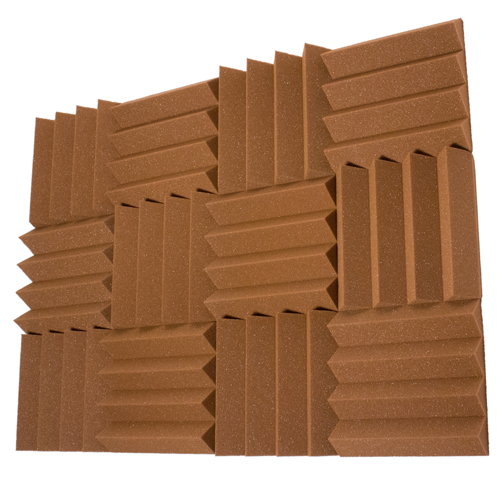 12 Pack Of Brown 3 Inch Studio Acoustic Foam Sheets
