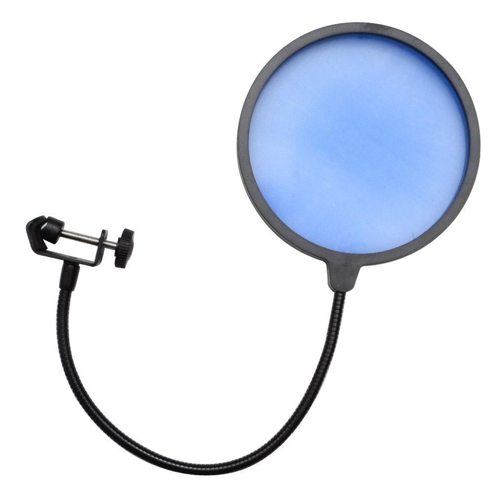 seismic audio flexible microphone wind screen studio mic pop filter blue ebay. Black Bedroom Furniture Sets. Home Design Ideas