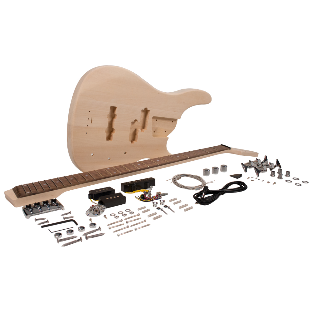 modern bass style diy electric bass guitar kit unfinished luthier project. Black Bedroom Furniture Sets. Home Design Ideas