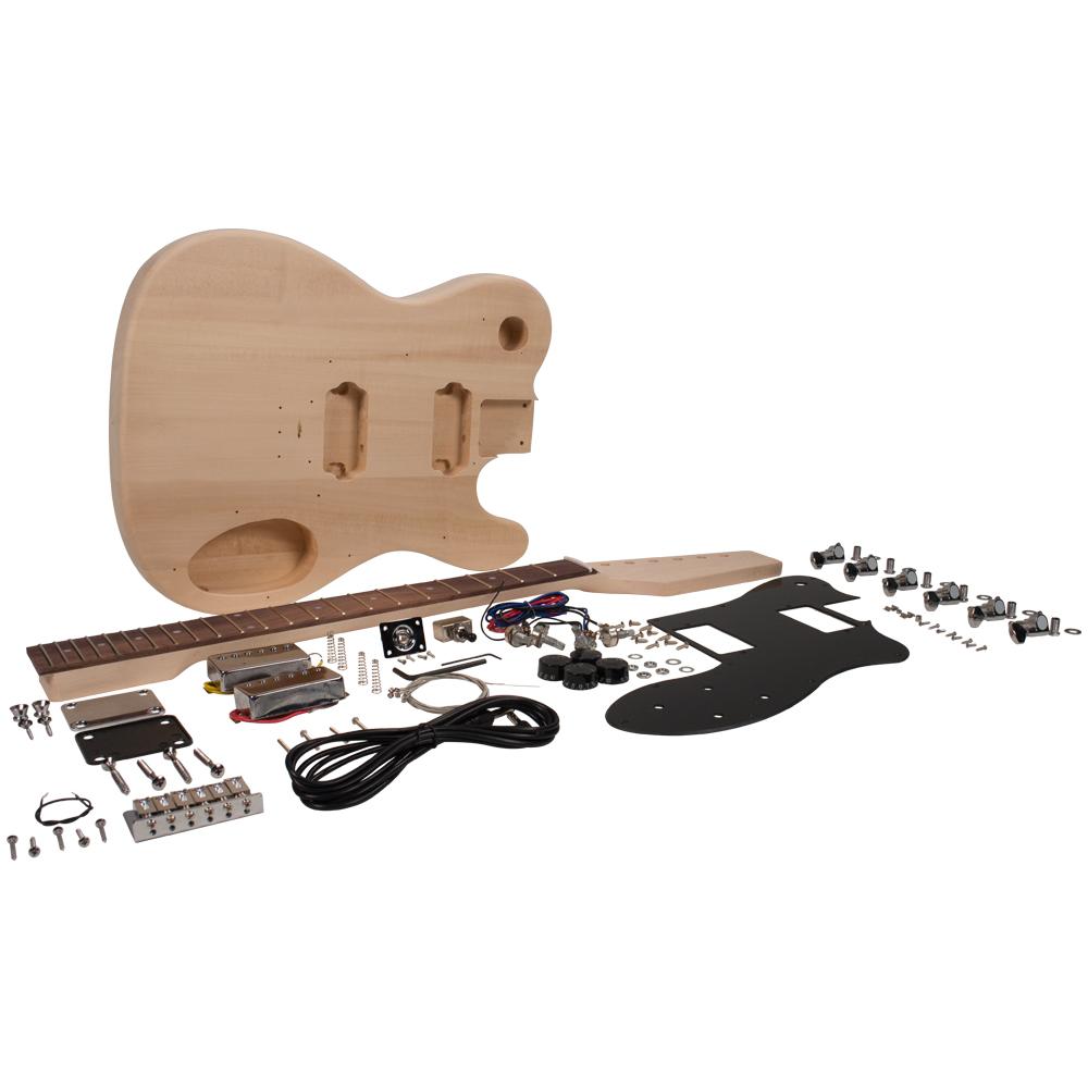 premium diy tele style electric guitar kit dual humbuckers luthier project kit ebay. Black Bedroom Furniture Sets. Home Design Ideas