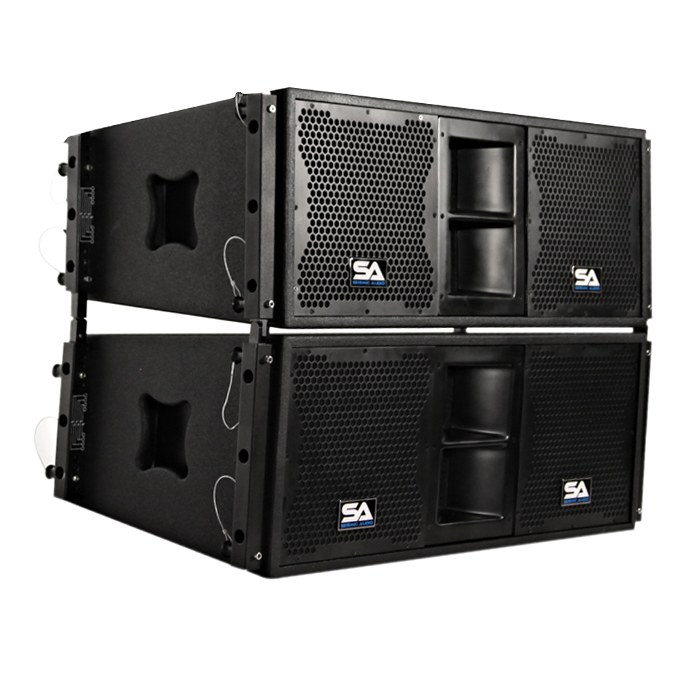 pair of premium passive 2x10 line array speakers with dual compression drivers ebay. Black Bedroom Furniture Sets. Home Design Ideas