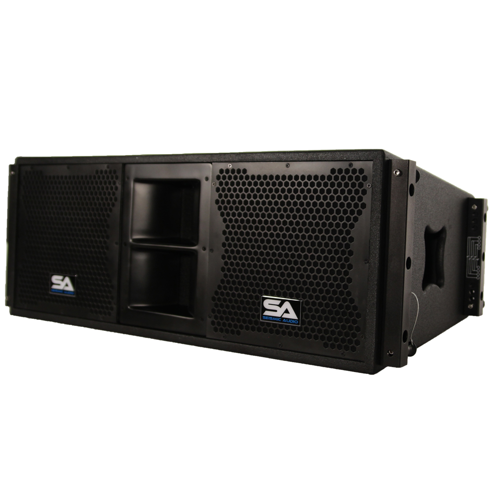 seismic audio passive 2x10 line array speaker with dual compression drivers ebay. Black Bedroom Furniture Sets. Home Design Ideas