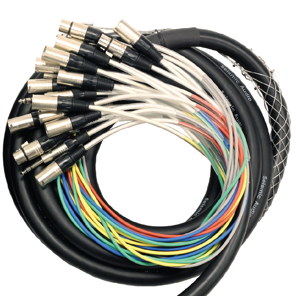 Xlr Speaker Cable : Channel foot xlr snake cable quot trs returns