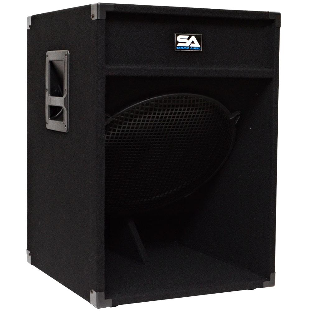 seismic audio 18 inch bass sub woofer loud speaker pa dj band church ebay. Black Bedroom Furniture Sets. Home Design Ideas