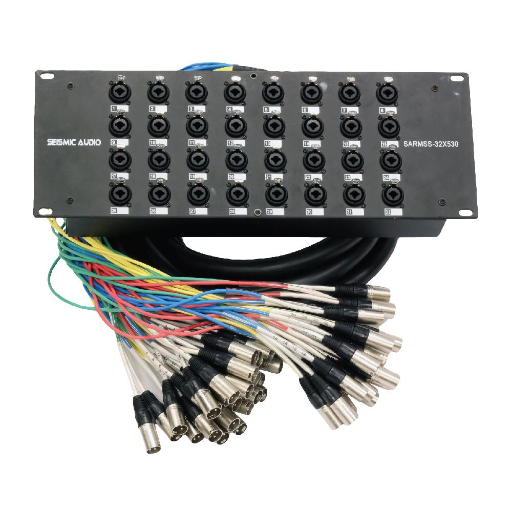 Rack Mount 32 Channel Xlr Trs Combo Splitter Snake Cable