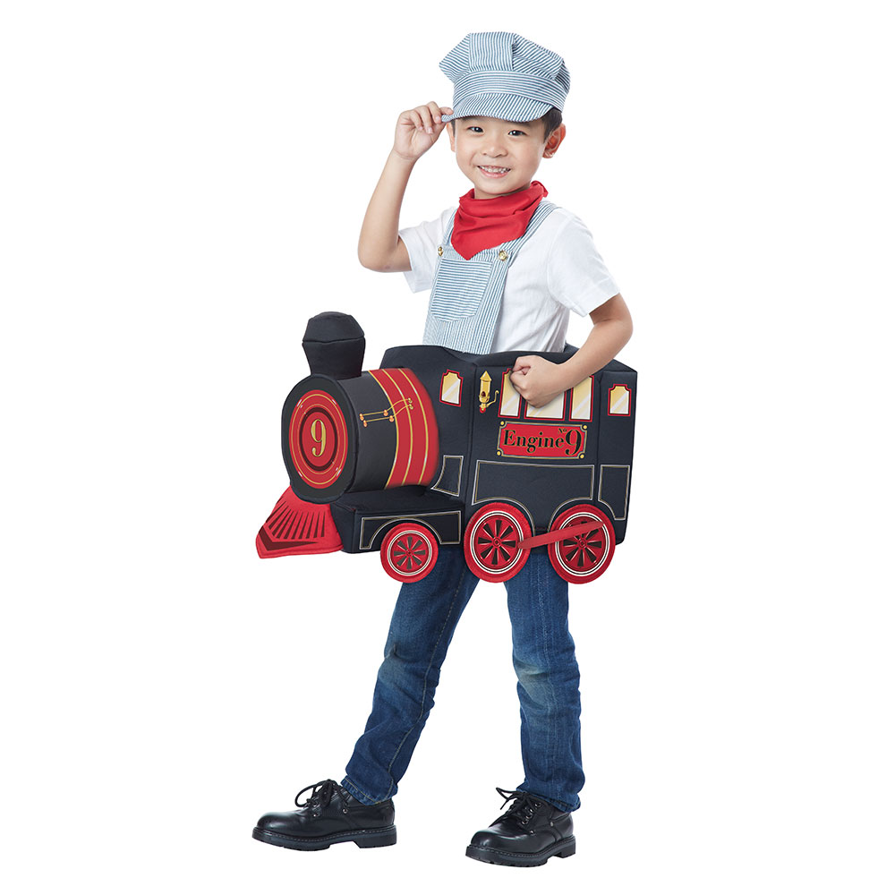 203655be26 Details about Boys All Aboard Train Conductor Costume size M L 3T-6T
