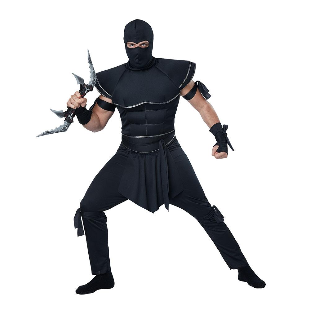 Ninja Halloween Costume Men.Details About Mens Stealth Ninja Adult Halloween Costume