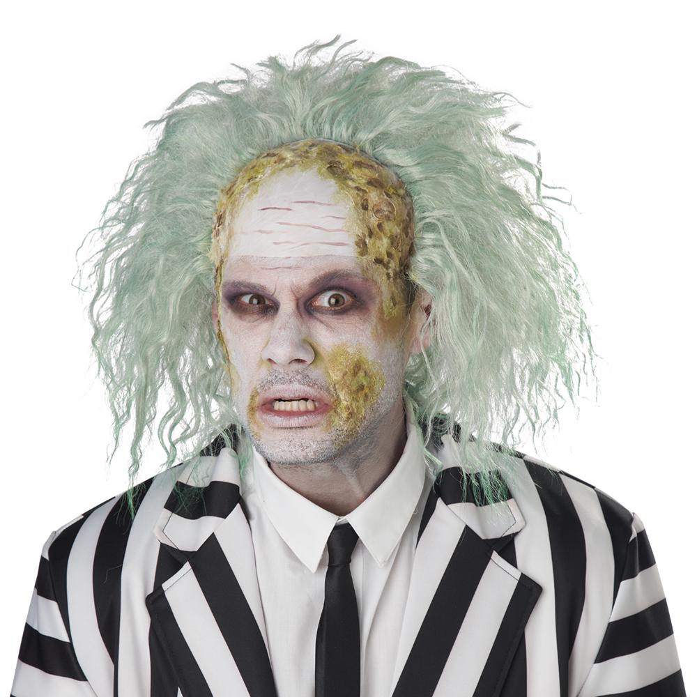 Adult Beetlejuice Obnoxious Ghost Bald Cap Costume Wig Ebay