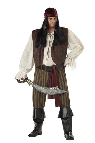 Great Details About Rogue Pirate Adult Mens Big And Tall Halloween Costume 48 52