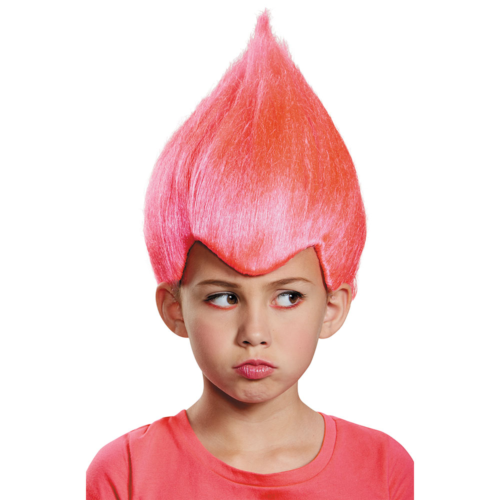 Details about Child Pink Wacky Troll Costume Wig 0446ef02fa89