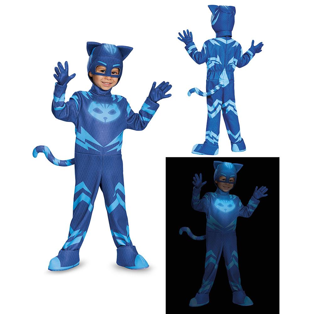 Toddler PJ Masks Deluxe Catboy Costume  sc 1 st  eBay & Toddler PJ Masks Deluxe Catboy Costume   eBay