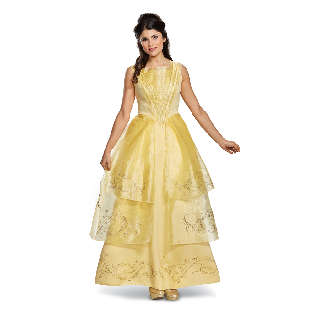 Womens Disney Belle Ball Gown Deluxe Costume | eBay