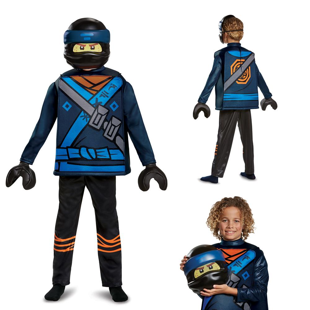 Ninjago Halloween Costume.Boys Ninjago Jay Movie Deluxe Halloween Costume Ebay