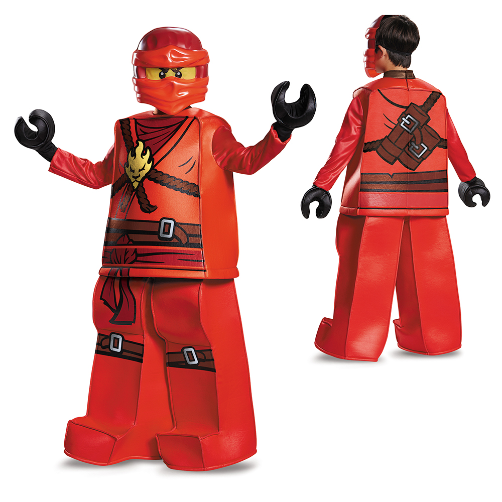 Ninjago Halloween Costume.Boys Lego Ninjago Prestige Kai Halloween Costume Ebay