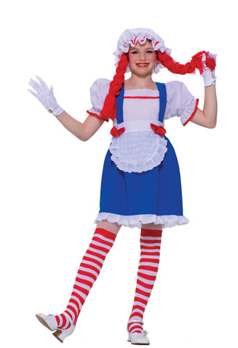 Raggedy Ann Rag Doll Girl Kids Halloween Costume  sc 1 st  eBay & Raggedy Ann Rag Doll Girl Kids Halloween Costume | eBay