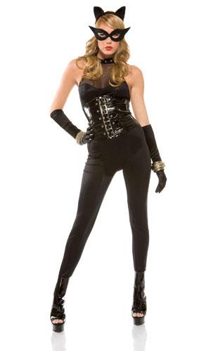 Image Is Loading Womens Kitty Meow Minx Sexy Cat Halloween Costume