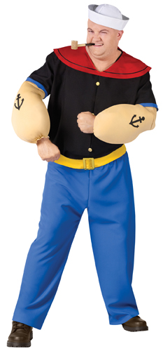 Exceptional Details About Popeye The Sailor Man Big And Tall Halloween Costume