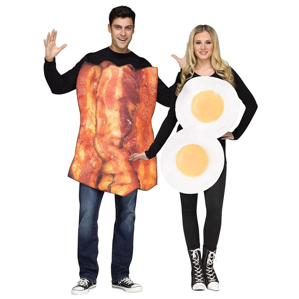adult couples bacon & eggs halloween costume | ebay
