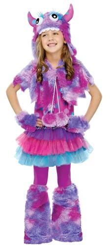 girls polka dot monster cute halloween costume