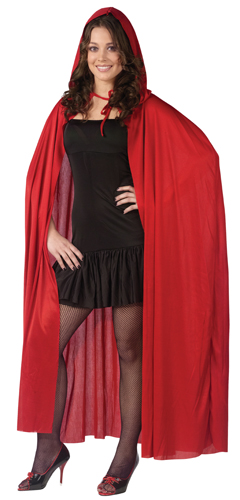 Hooded Cape 68 Quot Red Vampire Costume Accessories Ebay