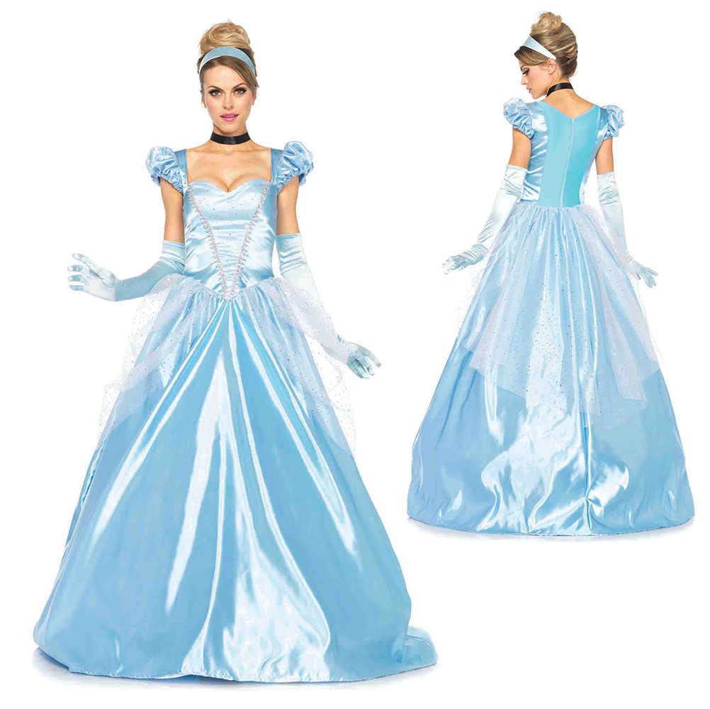 Womens Cinderella Classic Ball Gown Disney Costume | eBay