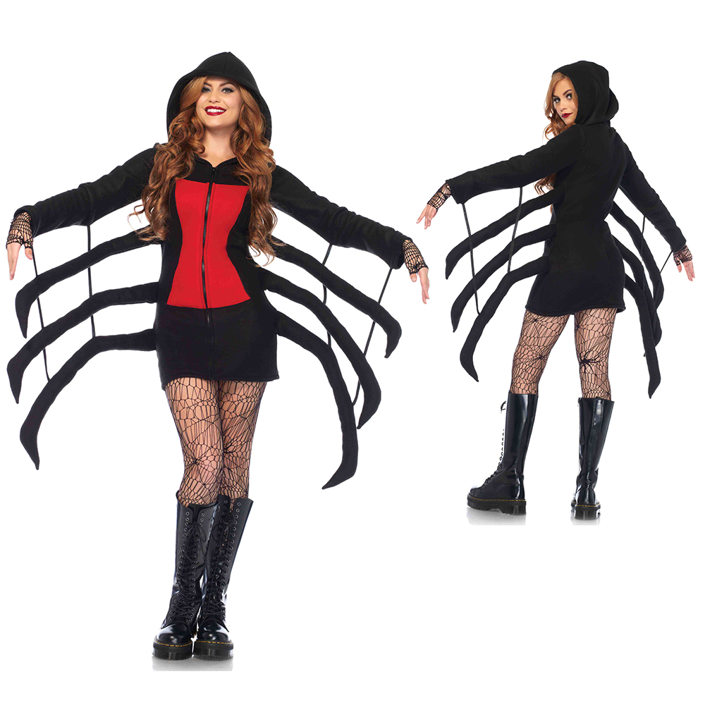 Womens Sexy Cozy Black Widow Spider Costume  sc 1 st  eBay & Womens Sexy Cozy Black Widow Spider Costume   eBay