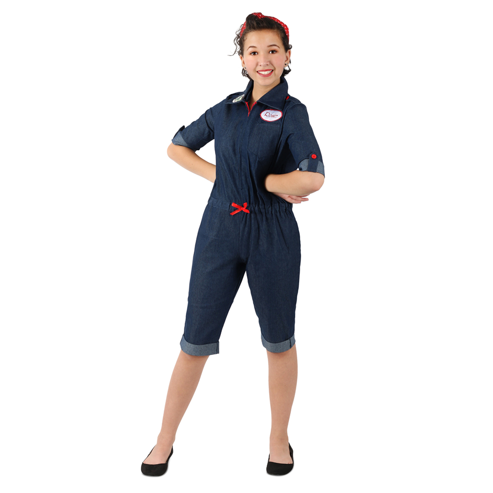 Details about  /Girls Rosie the Riveter American Icon Costume