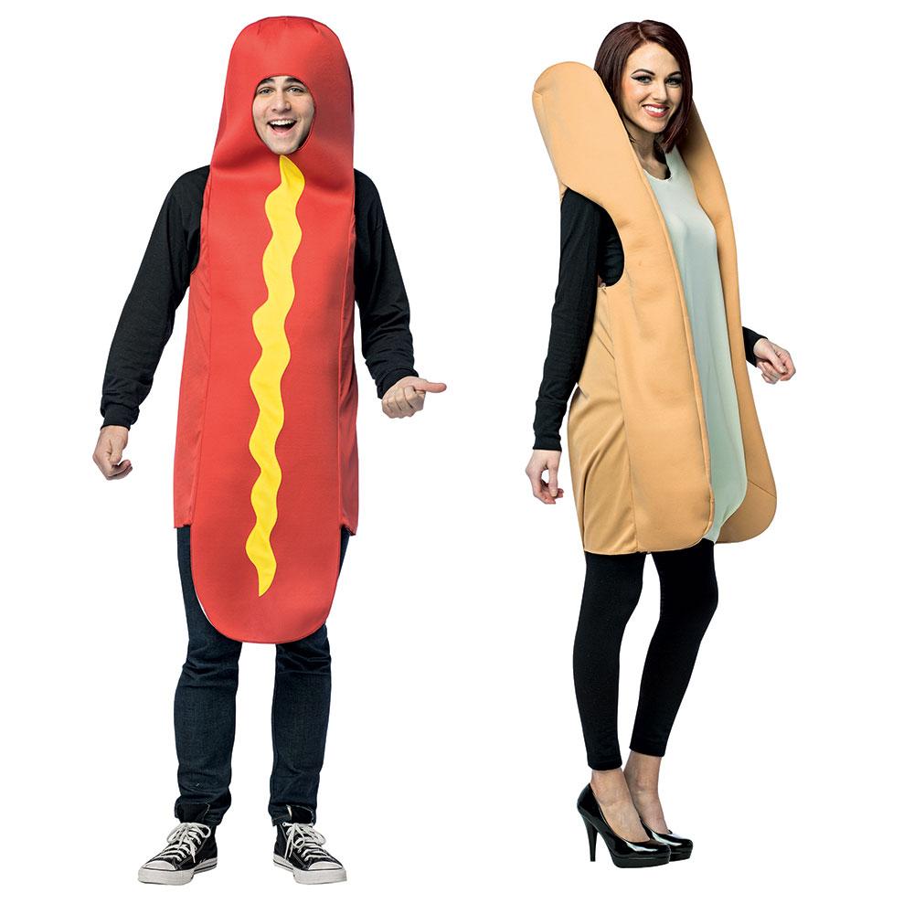 Hot Dog Amp Bun Couples Adult Costume Standard Size Ebay