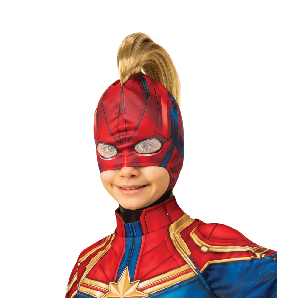 Kids Captain Marvel Headpiece With Mohawk Mask Ebay She is available to be purchased in the toy store for sparks. details about kids captain marvel headpiece with mohawk mask