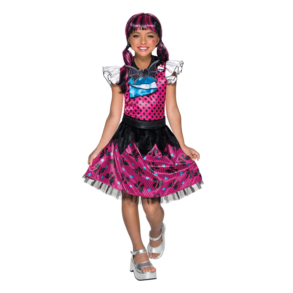 Girls Draculaura Dress Monster High Costume  sc 1 st  eBay & Girls Draculaura Dress Monster High Costume | eBay
