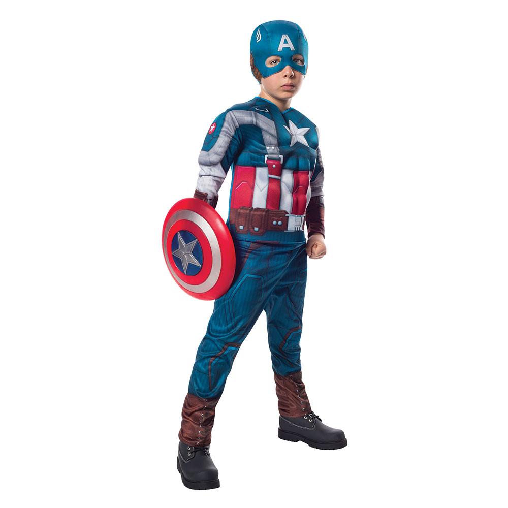 kids deluxe captain america retro halloween costume | ebay