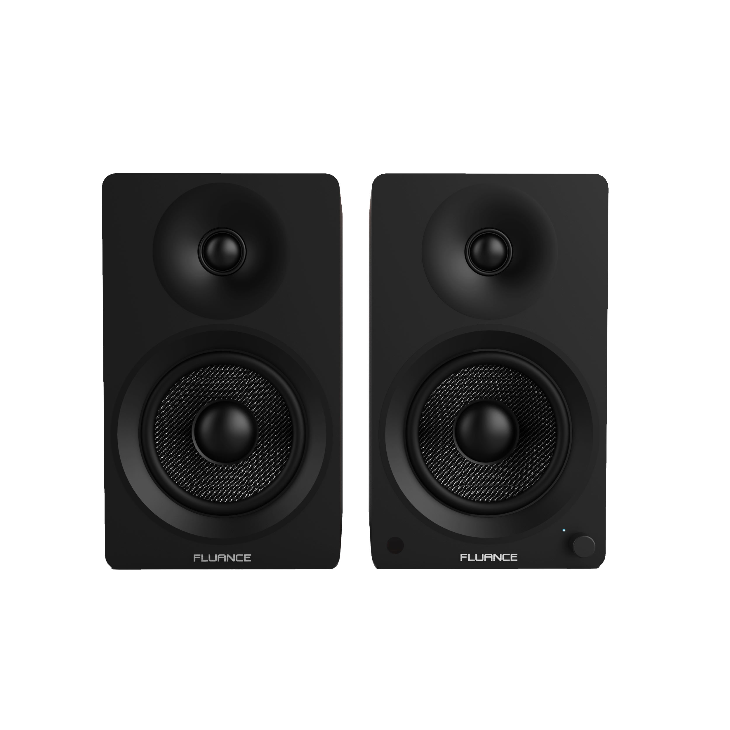 Fluance Powered 5 Bookshelf Speakers For Turntable PC HDTV
