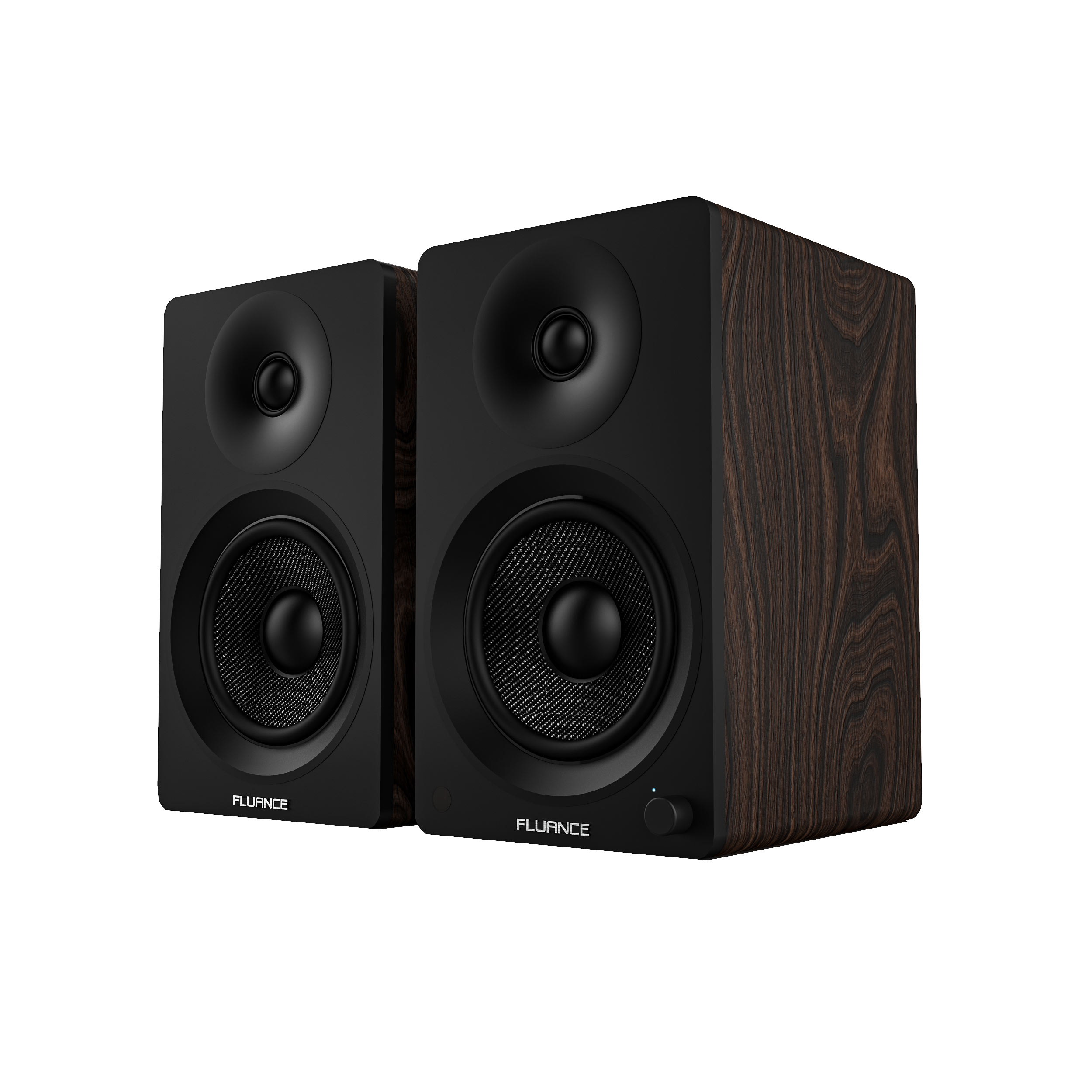 Fluance Ai40B Powered Two Way 5 20 Bookshelf Speakers With 70W Class D Amplifier For Turntable PC HDTV Bluetooth AptX Wireless Music Streaming