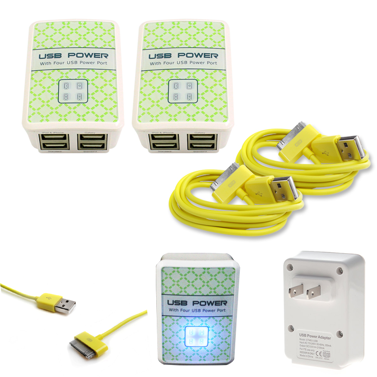 5X 3FT USB TO 30PIN YELLOW CABLE DATA SYNC POWER CHARGING FOR SAMSUNG GALAXY TAB