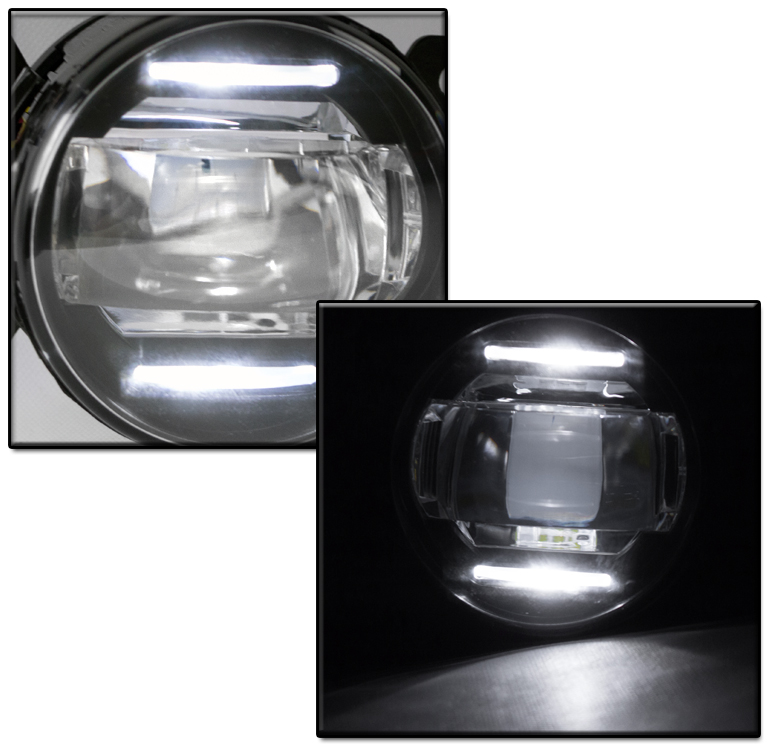 PAIR LED REPLACEMENT BUMPER FOG LIGHT CHROME FOR ACURA