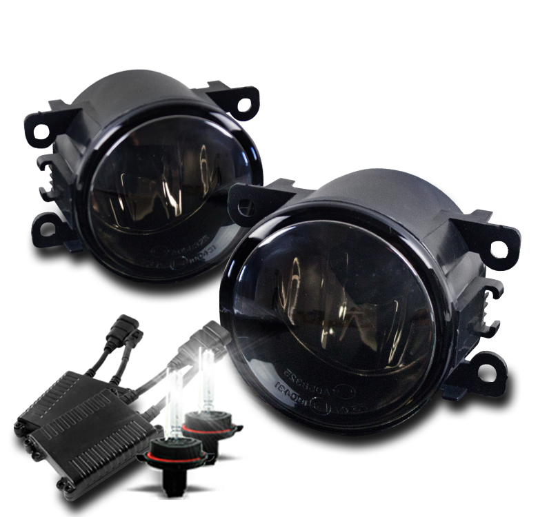 FRONT BUMPER FOG LIGHT SMOKE +50W 8000K HID FOR ACURA FORD