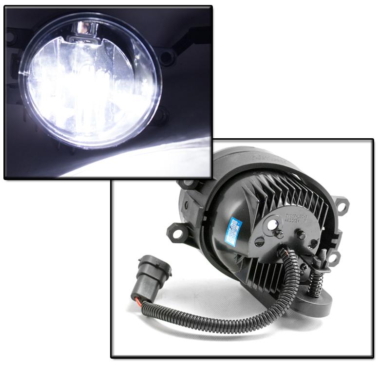 Bumper Driving Chrome Led Fog Light W Black Bezel Switch
