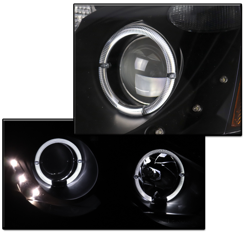 FOR 02-04 ACURA RSX DC5 HALO BLACK PROJECTOR HEADLIGHTS