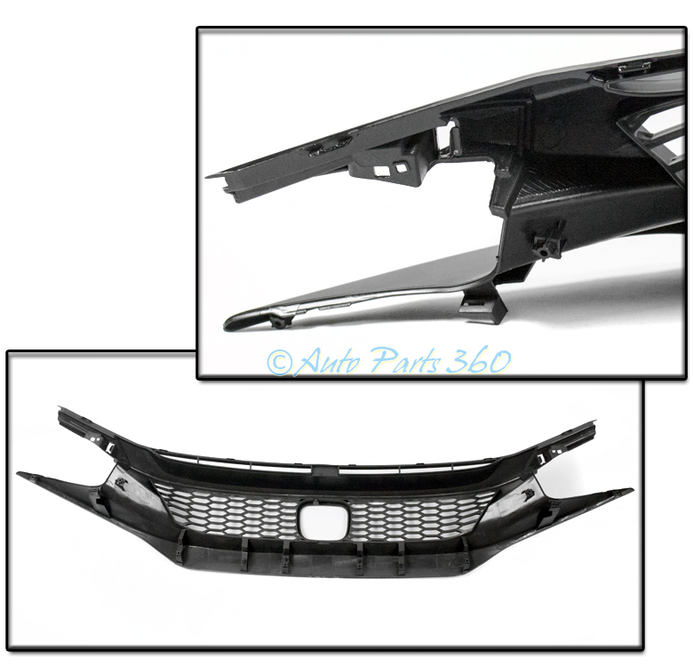 16 17 honda civic 4dr fk8 honeycomb mesh sport front hood grille click thumbnails to enlarge publicscrutiny Image collections