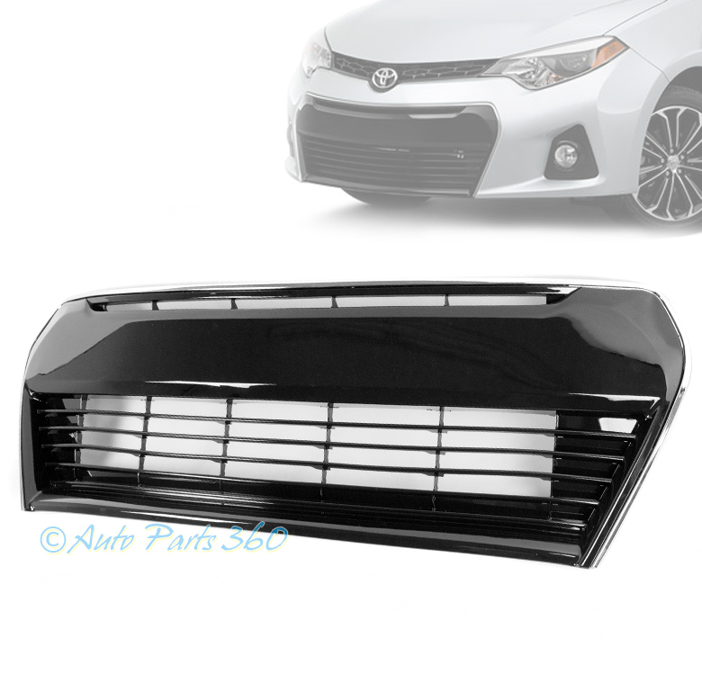 14 16 toyota corolla s front bumper lower abs grille assembly black click thumbnails to enlarge publicscrutiny Image collections