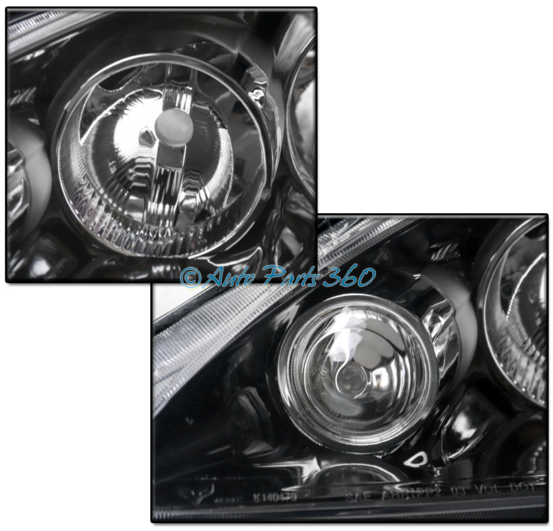 FOR 05-06 ACURA RSX DC5 CRYSTAL STYLE BLACK HEADLIGHTS