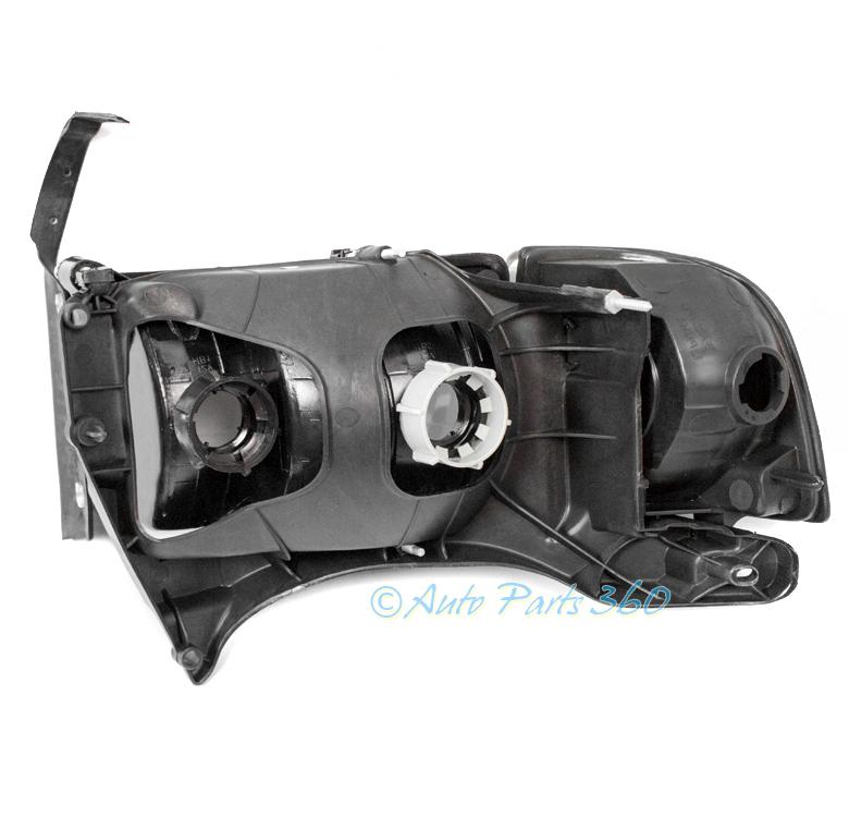 99-01 DODGE RAM 1500 SPORT BLACK HEADLIGHT W/CORNER TURN