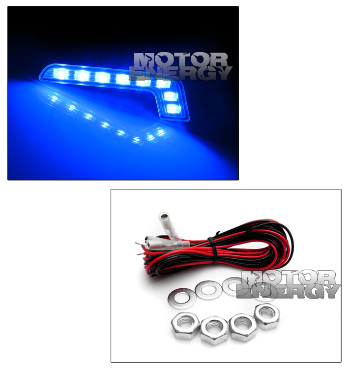 07-11 TOYOTA YARIS 4DR HALO LED BLACK PROJECTOR HEADLIGHTS W/BLUE DRL LEFT+RIGHT 8