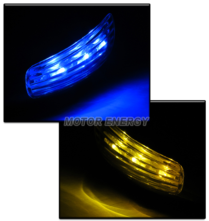 95-99 MITSUBISHI ECLIPSE M3 POWER MIRROR BLUE//AMBER LED TURN SIGNAL LIGHT CLEAR
