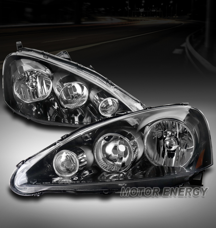 FOR 05-06 ACURA RSX DC5 BLACK REPLACEMENT HEADLIGHTS