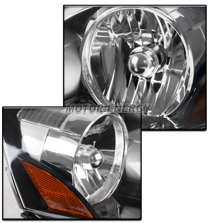 FOR 05-06 ACURA RSX DC5 BLACK REPLACEMENT HEADLIGHTS LAMPS