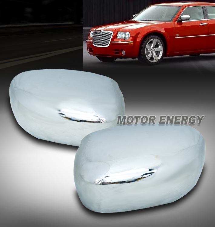 FOR CHRYSLER 300//C DODGE CHARGER MAGNUM CHROME OVERLAY SIDE MIRROR COVERS COVER