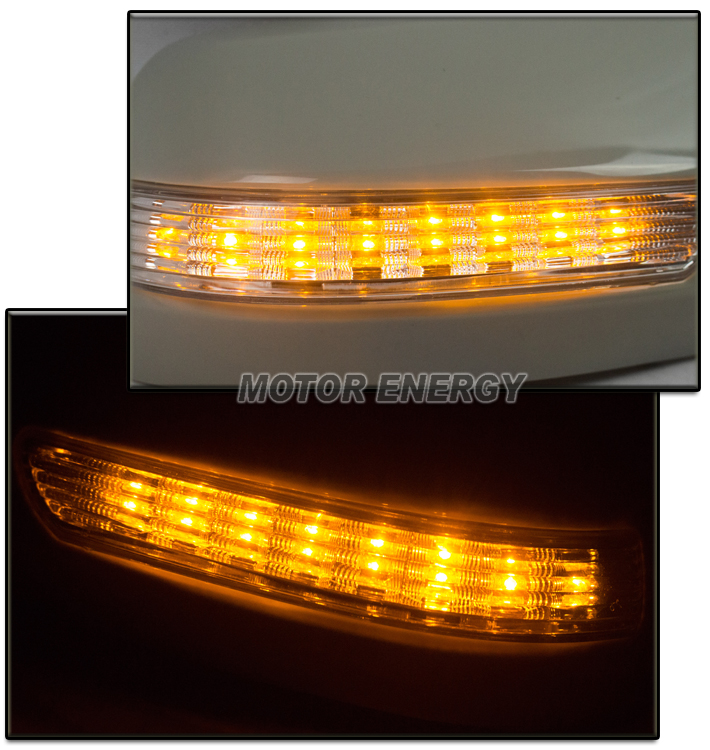 FOR 03-07 MAZDA 6 AMBER LED SIGNAL SIDE MIRROR COVERS UNPAINTED LEFT+RIGHT PAIR