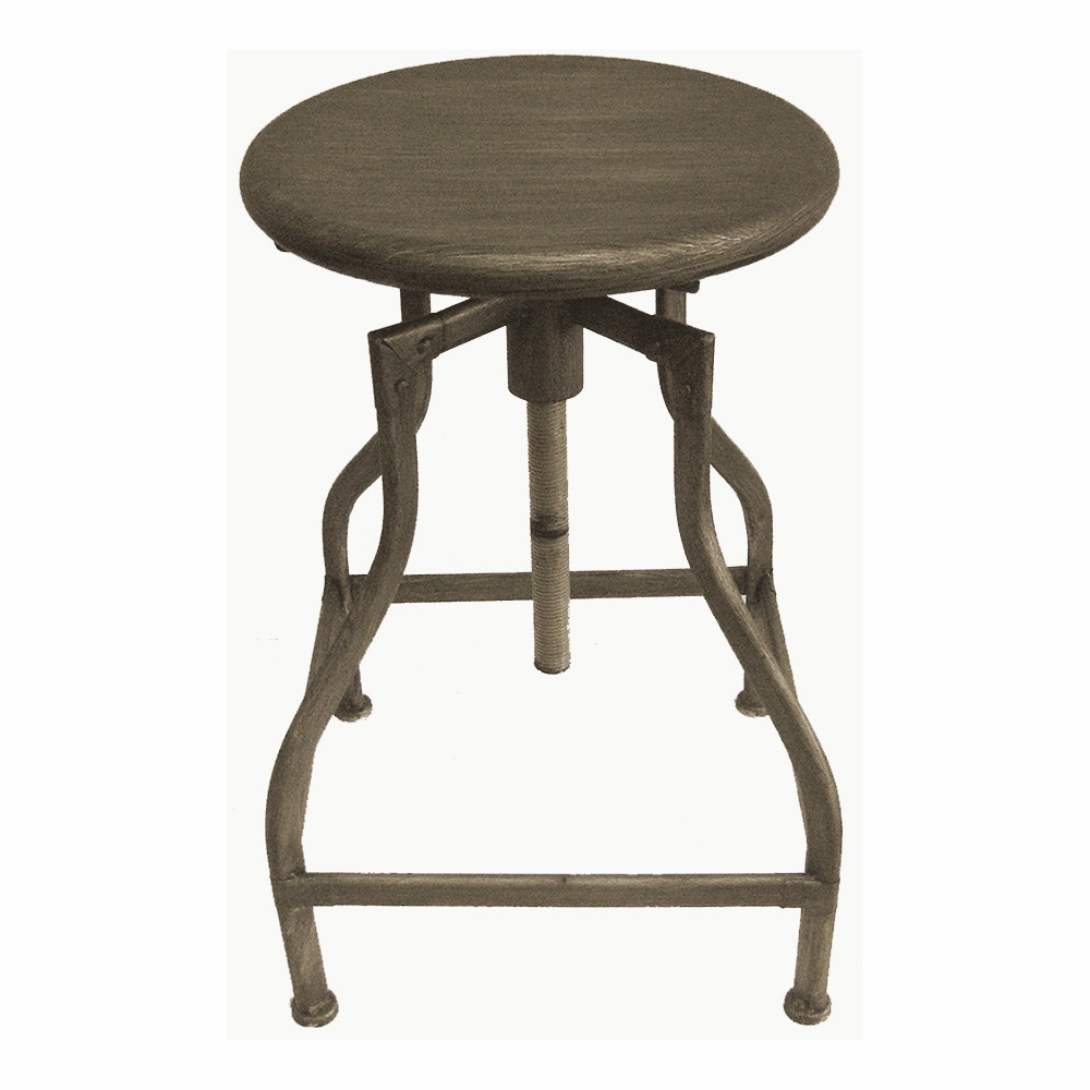 new rustic retro bristol barstool steel rotating adjustable height bar stool ebay. Black Bedroom Furniture Sets. Home Design Ideas
