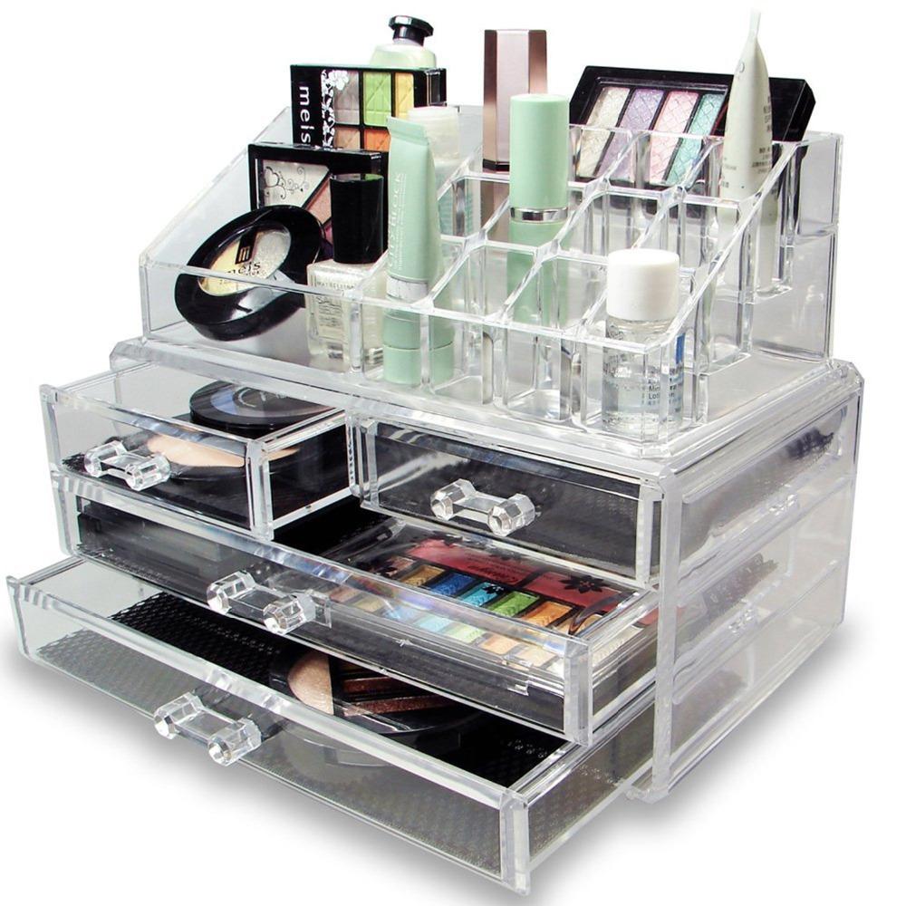Nuevo Maquillaje De Lujo Organizador De Joyer A Pantalla De  ~ Organizador De Joyas Para Cajones
